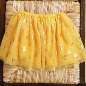 Epic Threads-Yellow Tutu w/GOLD Sun Shapes